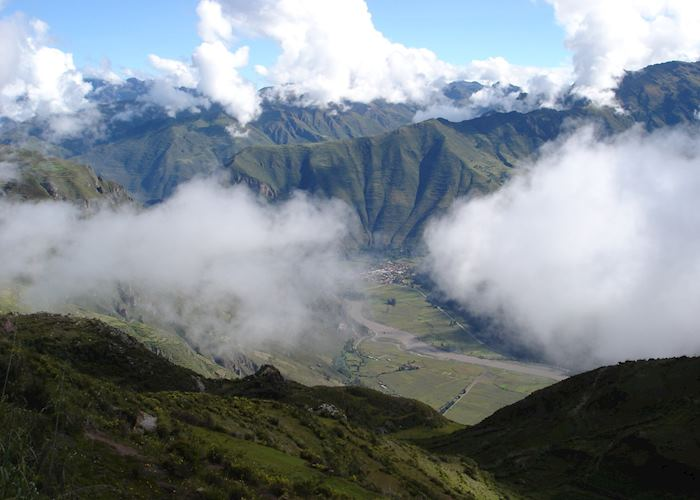 View of the Sacred Valley from the Huchuy Qosqo trek
