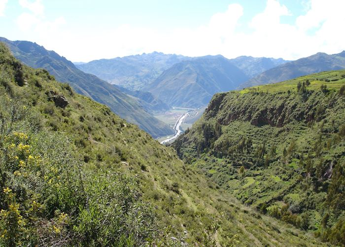 Views of the Sacred Valley from the Huchuy Qosqo trek