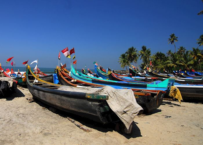 Small fishing village near Cochin, India