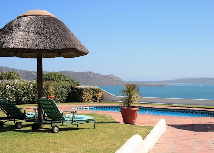 Pool Terrace. The Farmhouse Hotel, Langebaan