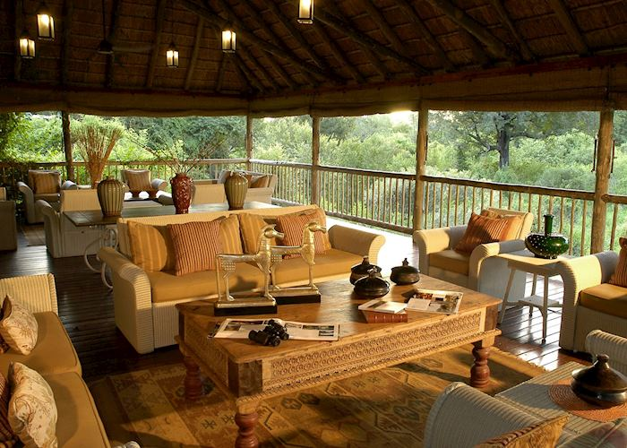 Bush Lodge Deck. Sabi Sabi - Bush Lodge, The Sabi Sand Wildtuin