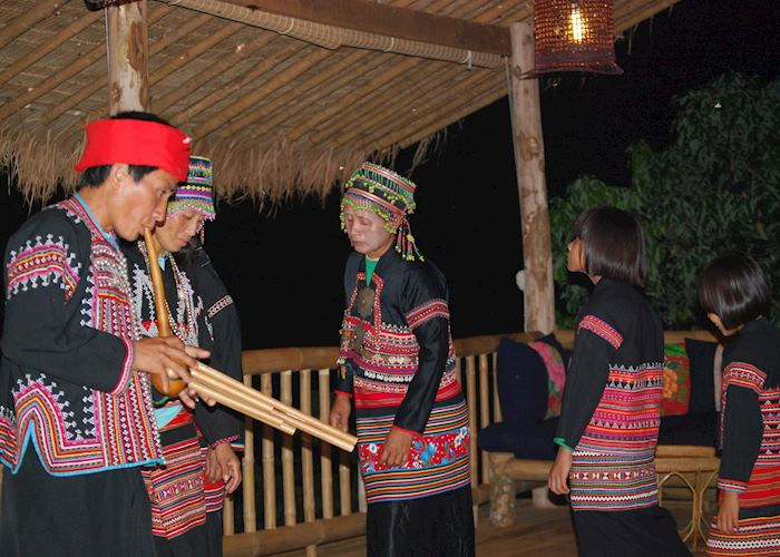 Lahu musicians at Lanjia Lodge, Chiang Rai