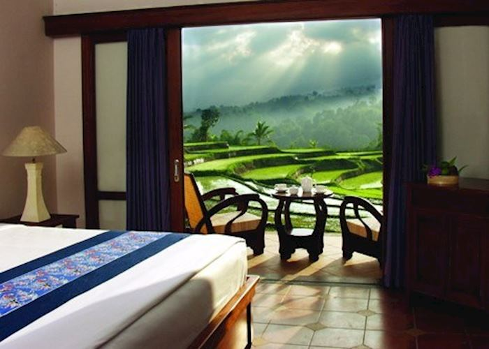 View from a room at the Ijen Resort & Villas, Ijen National Park
