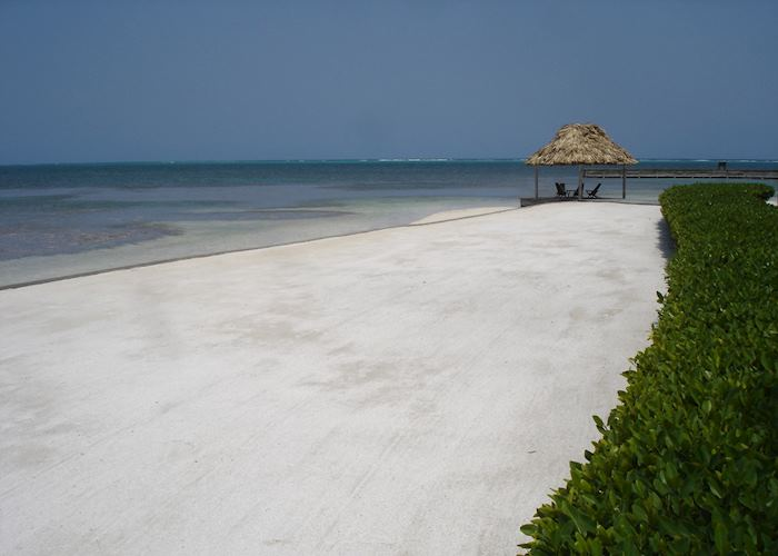 Beach at Turneffe Island Lodge