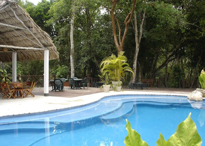 Swimming pool, Hotel Posada de la Selva, Tikal