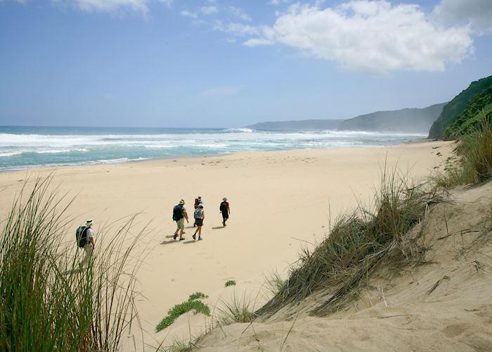 Walking on Johanna Beach on Great Ocean Walk with Bothfeet