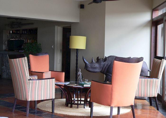Lounge at Mjejane River Lodge