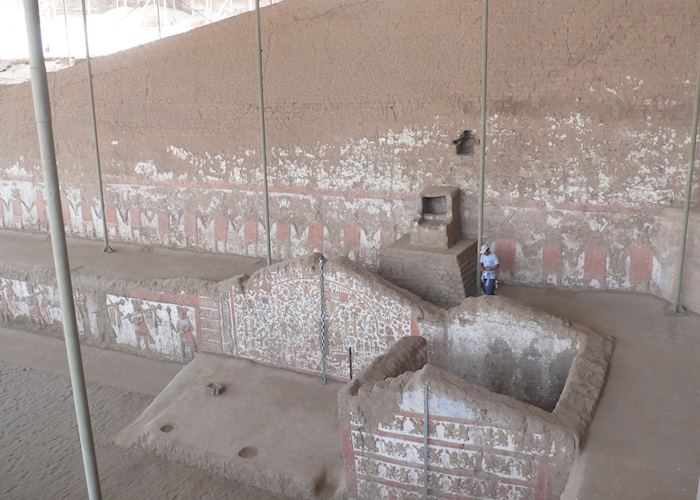 Archaeologists at work inside the Huaca de la Luna