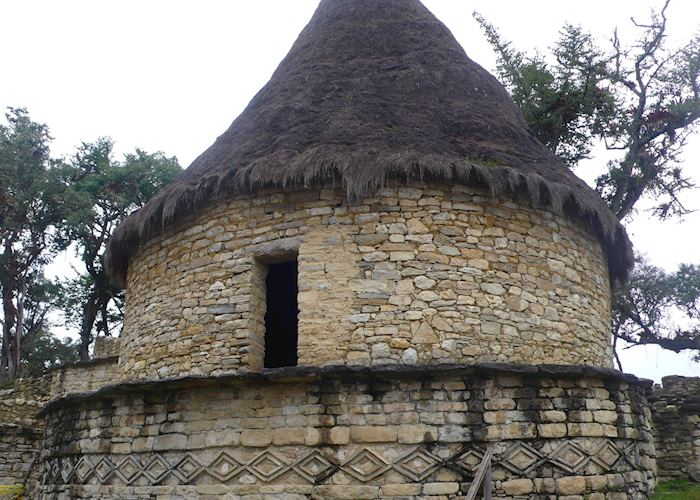 Reconstruction of  Chachapoyan house at Kuelap