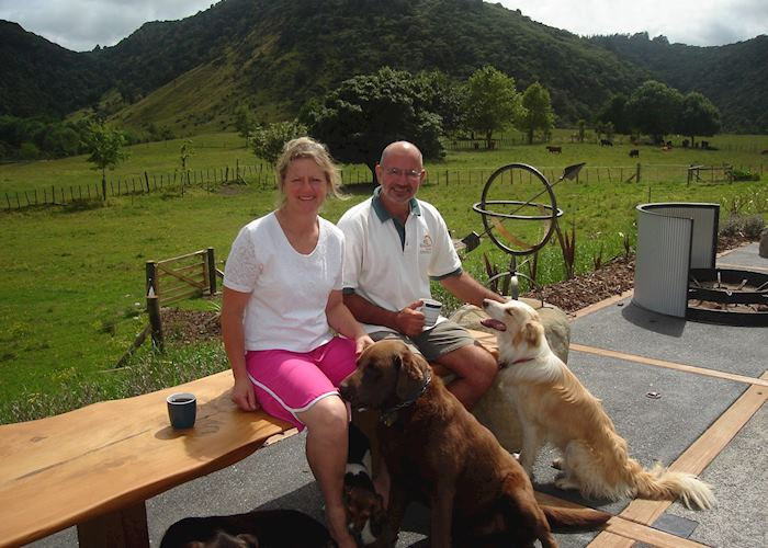 Kay and Kees, the hosts at Knapdale Eco Lodge