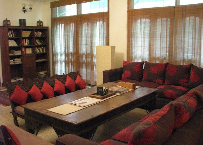 The lounge at Shanti Home, Delhi