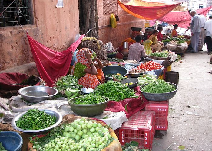 The vegetable market at Jaipur