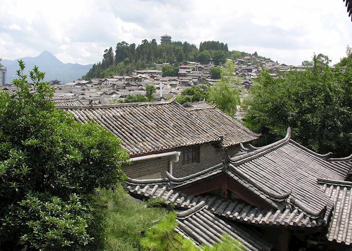 View over Lijiang old town from Zen Garden - Lion's Yard Annexe, Lijiang