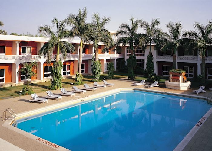 Swimming pool at Hotel Chandela, Khajuraho