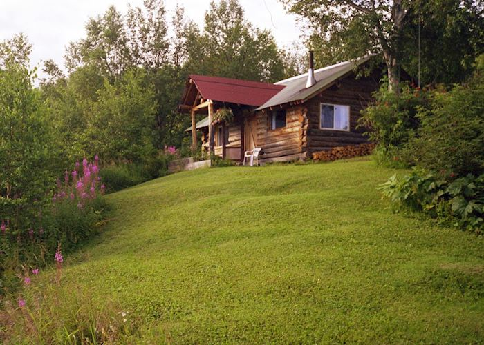 A cabin at Redoubt Bay Lodge