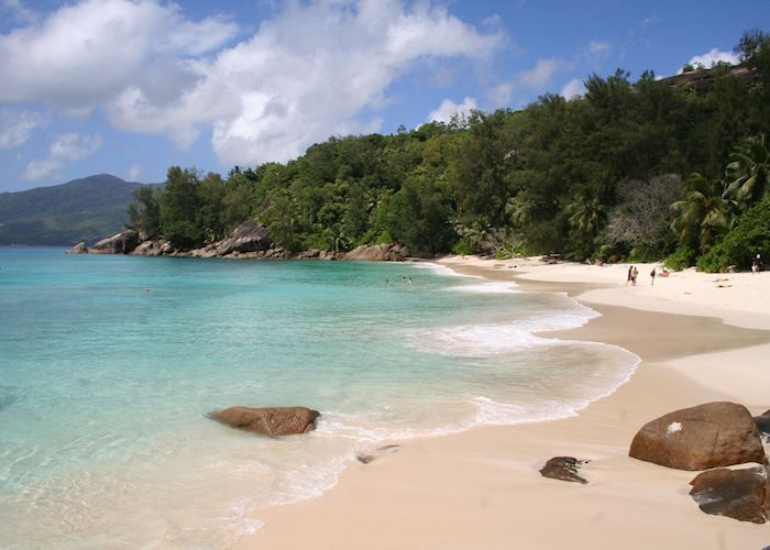 The beach at Anse Soleil Beachcomber, Mahe