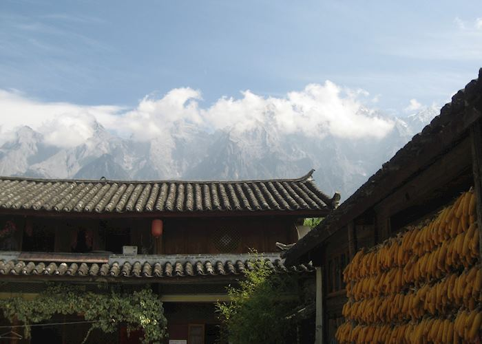 Jade Dragon Mountain looking over Tiger Leaping Gorge