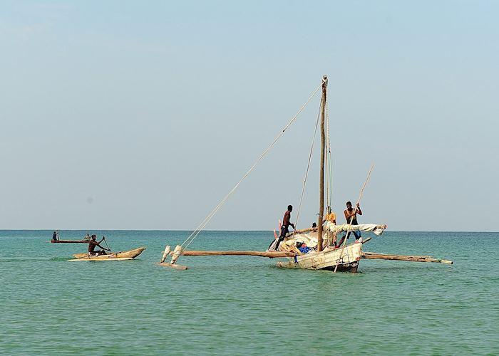 Pirogue off the coast of Anjajavy