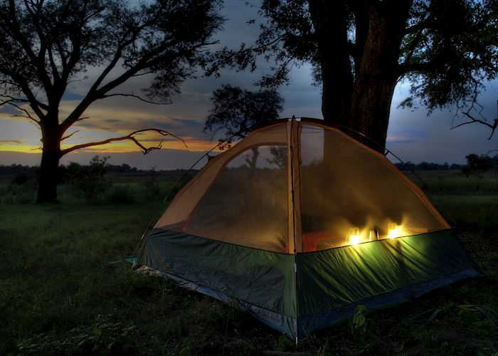 Kanana Mokoro Trails tent in the Nxabega Concession