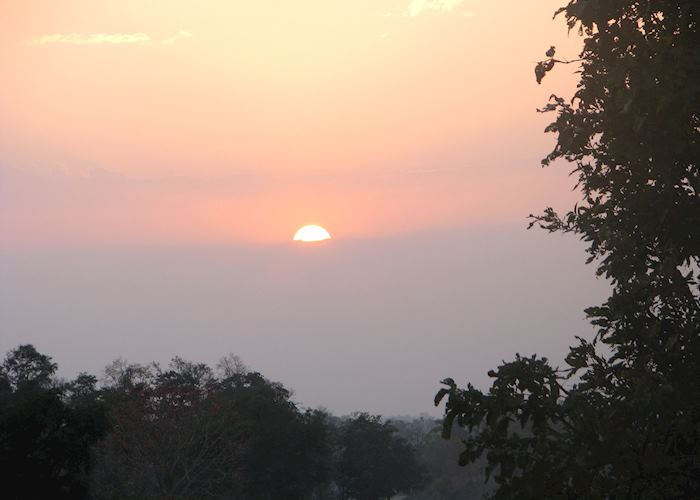 Sunset as seen from the Flame of the Forest, Kanha