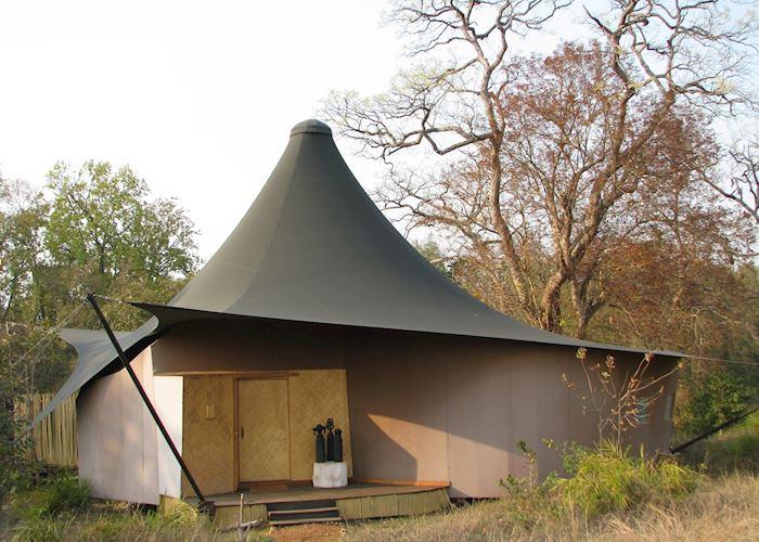 Tented accommodation at Banjaar Tola, Kanha National Park