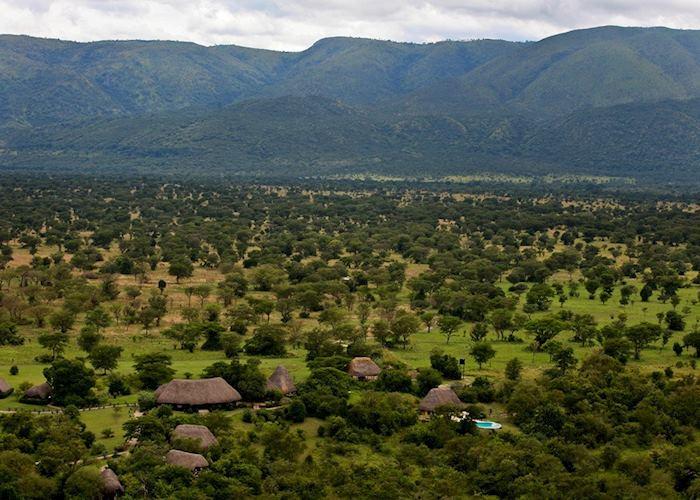 Aerial View, Semliki Safari Lodge