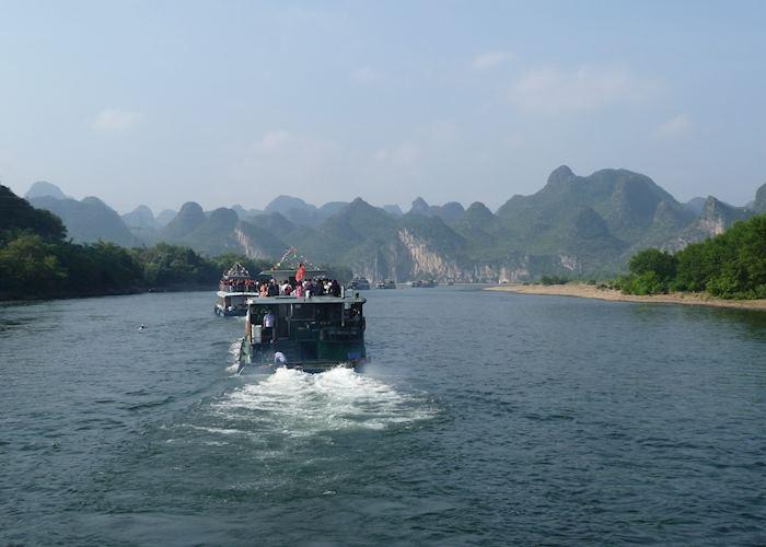 Shared boat journey along the Li River, Guilin