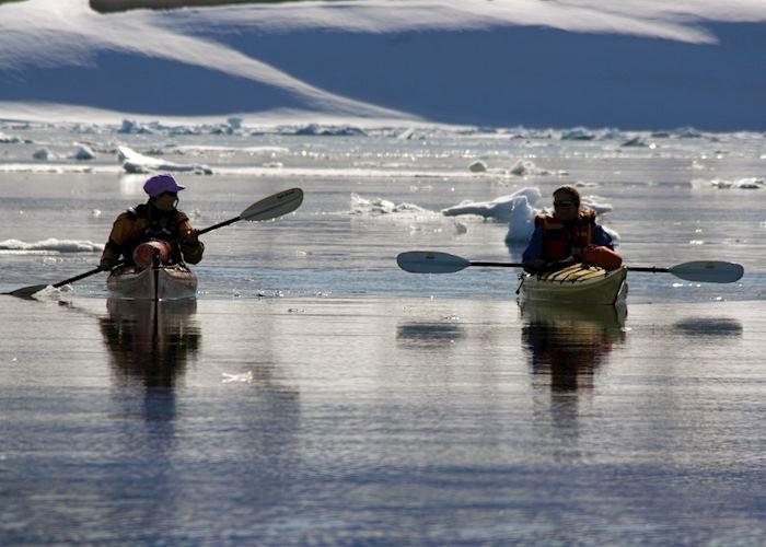 Kayaking in polar waters