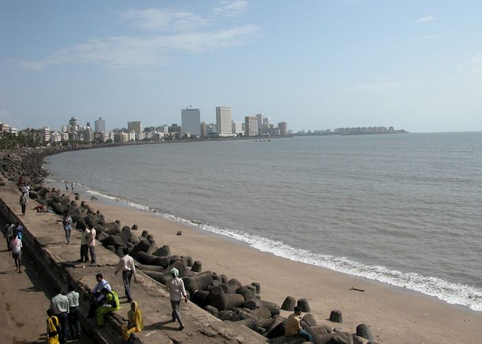 The Marine Drive also known as the Queens Necklace, Mumbai