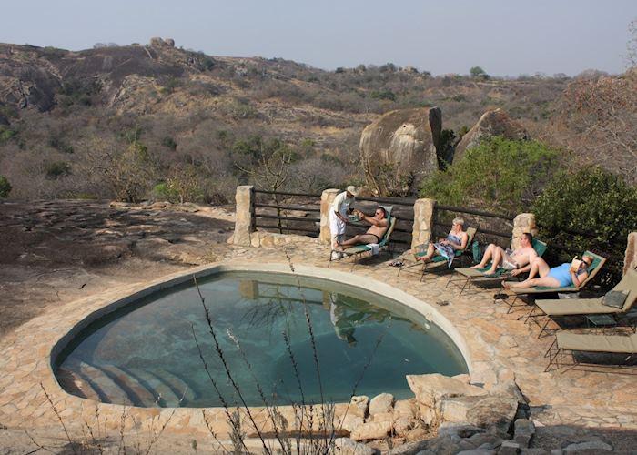 The pool at Big Cave Camp