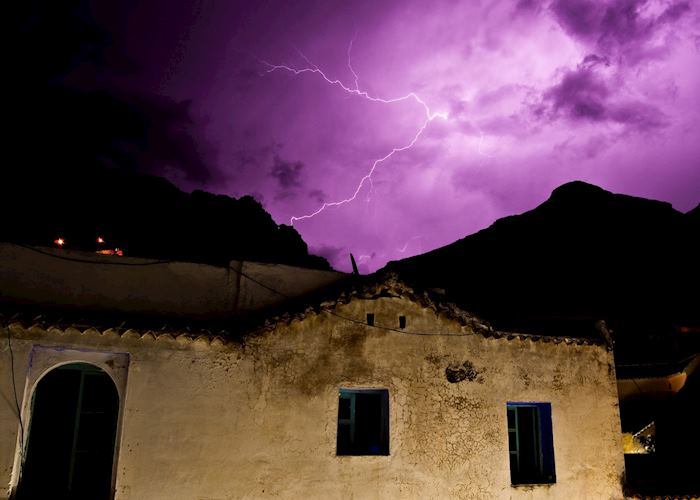 Thunderstorm in Chefchaouen
