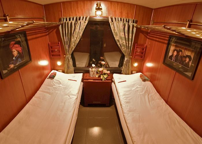 Deluxe compartment, Victoria Express Train, Lao Cai