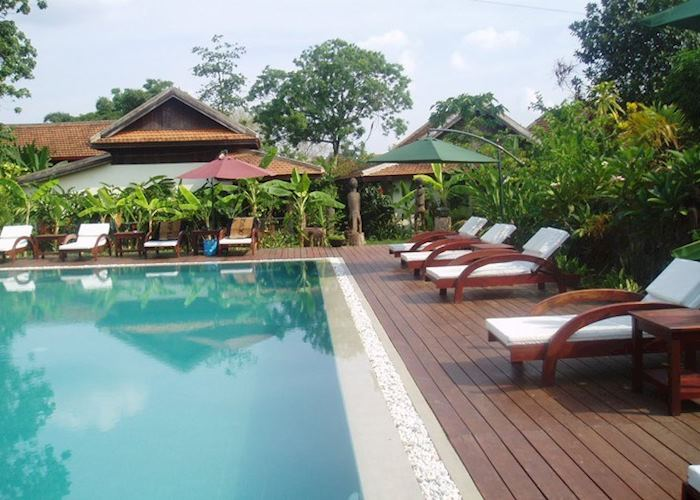 Pool area, Terres Rouge, Ban Lung