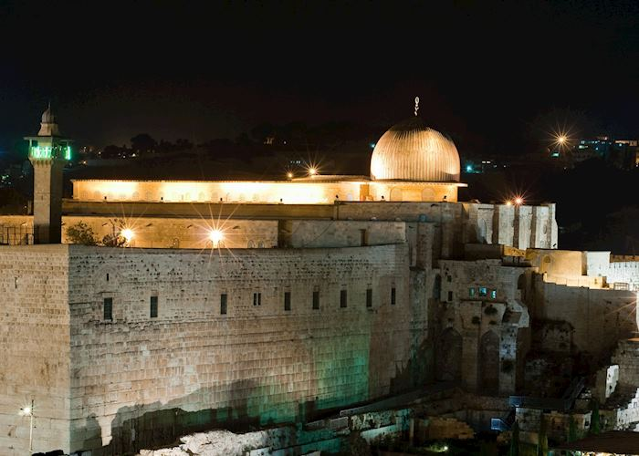 Al Aqsa Mosque and the Wailing Wall, Jerusalem