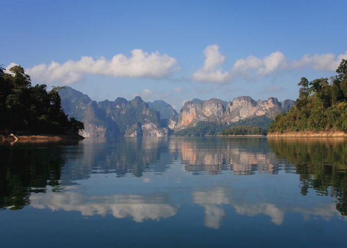 Cheow Larn Lake in the Khao Sok National Park, Thailand