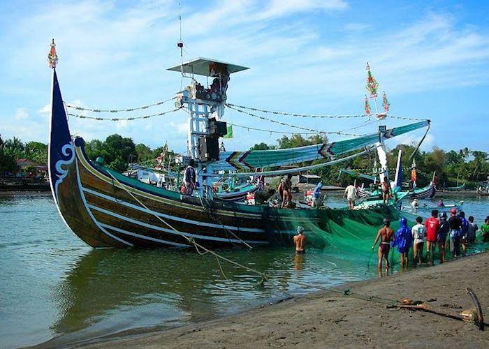 Fishing boat in Perancak near Medewi, Indonesia