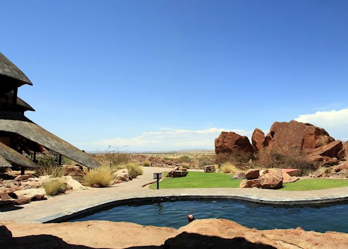 View from the pool at Twyfelfontein Country Lodge