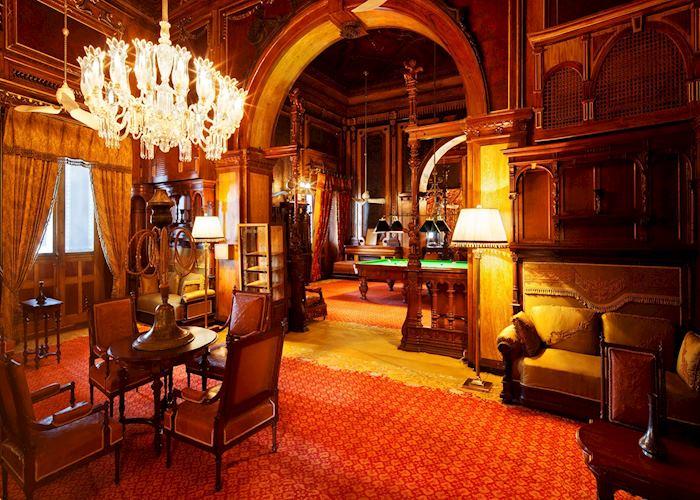 Games room at Taj Falaknuma Palace, Hyderabad