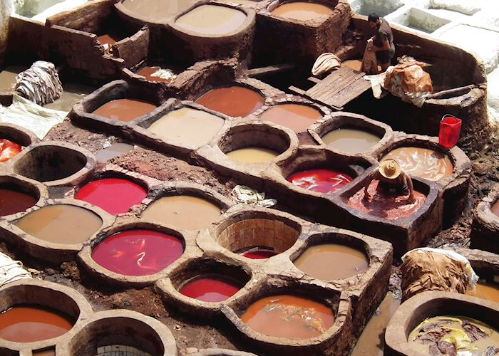 The Tanneries at Fez, Morocco