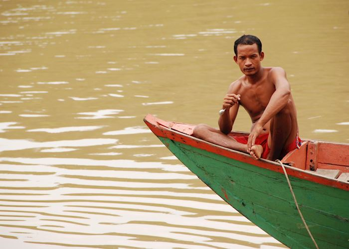 Boatman in Koh Kong, Cambodia