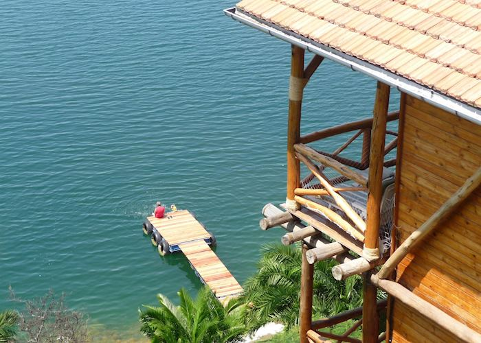 Room overlooking the lake, Cormoran Lodge, Kibuye