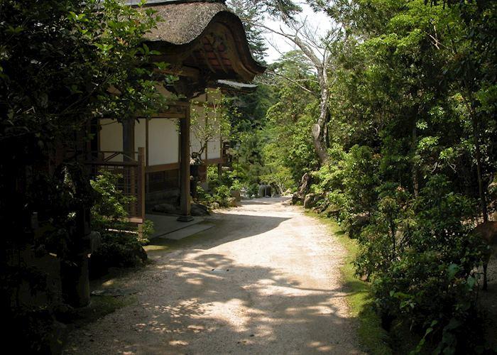 Exterior view of the Iwaso Ryokan, Miyajima