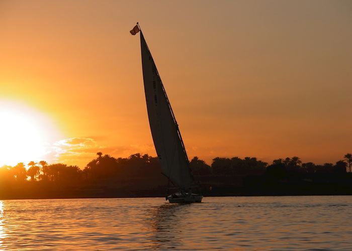 Felucca at sunset, Aswan