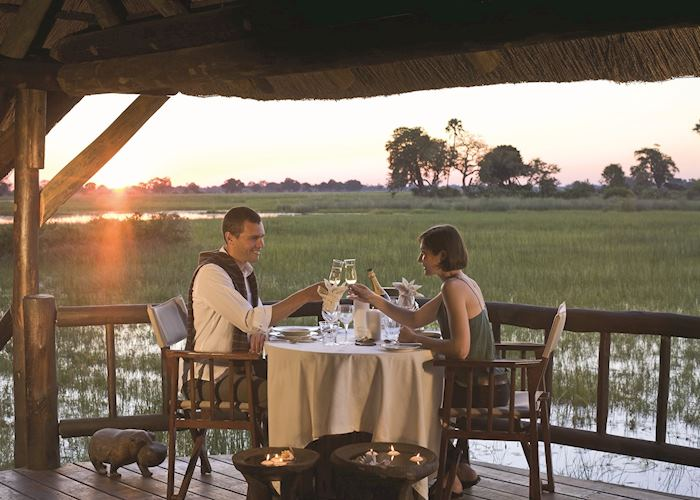 Romantic dinner, Eagle Island Camp, Gunn's Concession