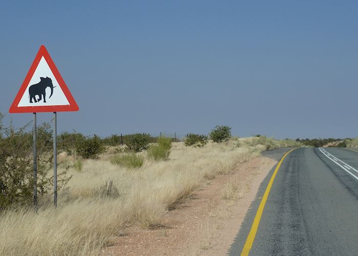 Road Sign In South Damaraland