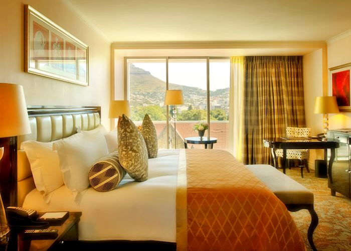 Luxury mountain view. Tower room, The Taj Hotel, Cape Town