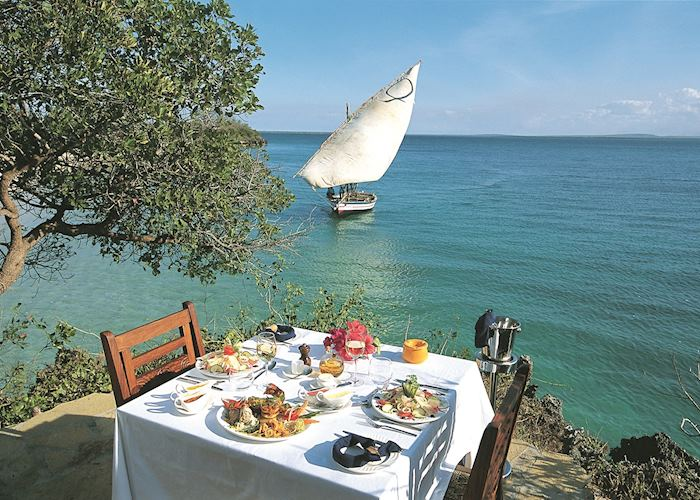 Lunch at the lookout, Azura at Quilalea Private Island, Quirimba Archipelago