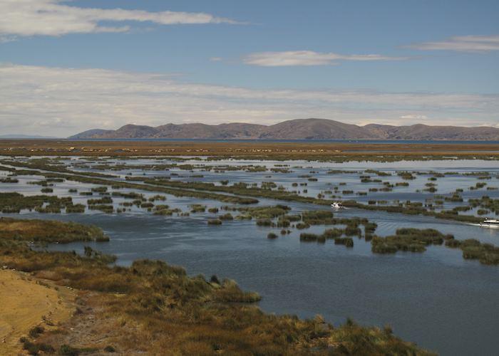 En route to the Uros Islands