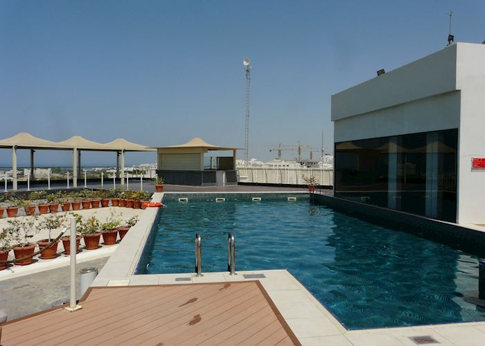 Rooftop pool, Park Inn, Muscat