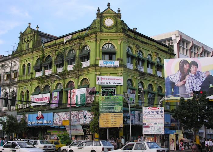 Colonial architecture in downtown Yangon